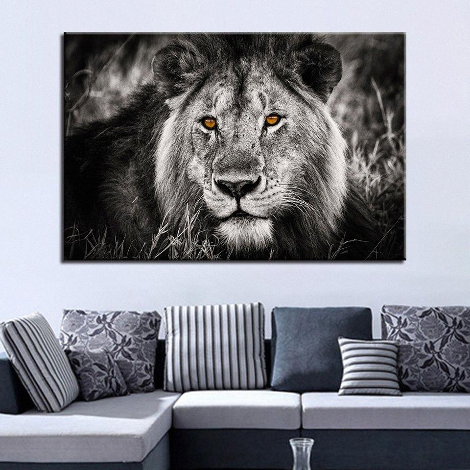 2020 Canvas Pictures Home Decor For Living Room Hd Prints Pcs Black White Lion Face Painting Animal Poster Wall Art Framework Bxgn From Walmarts 143 69 Dhgate Com