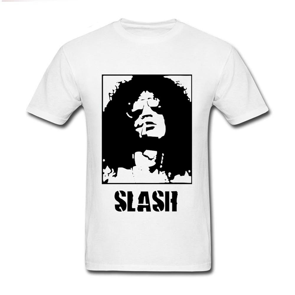 2019 creativo Homme Maschio 100% cotone Guns N Roses shirt Chitarrista T Slash Stampato Classical Guitar Player Tees Man