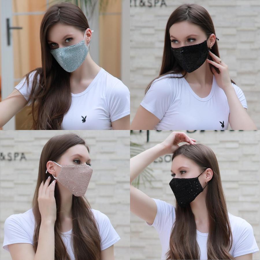 Elastik Kulak Döngü 3 Kat Nefes Toz Hava Karşıtı Kirliliği Face ile FreeUPS 3-8 Gün için ABD, AB 50Pcs ile Kutusu Tek Yüz Maskesi # 252 Maske