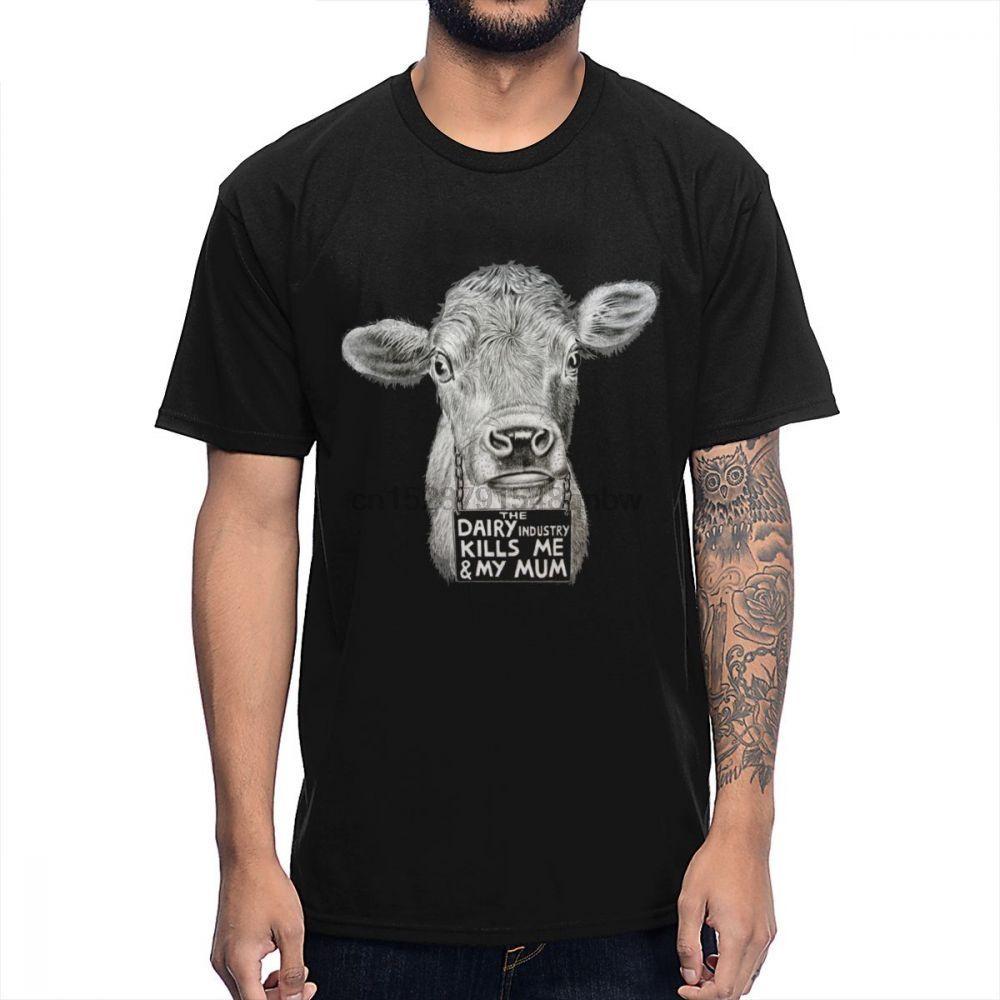 Végétalien Conception Stolen Lives vache T-shirt Mans Casual Summer Coton Homme Tee shirt O-cou Big Size T-shirt
