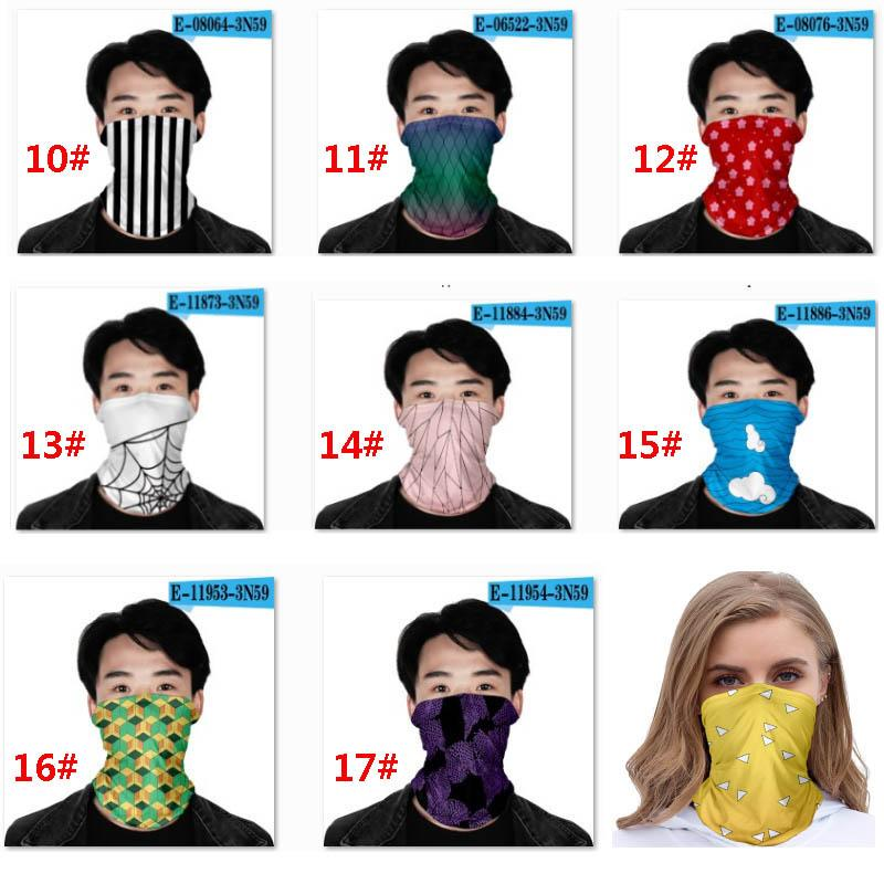 Kopftuch Riding Gesichtsmaske Seamless Hip Hop Printing Magic Tube Neck Gesicht Kopftuch Stirnband Bandana Schutz Party Supplies HH9-3037