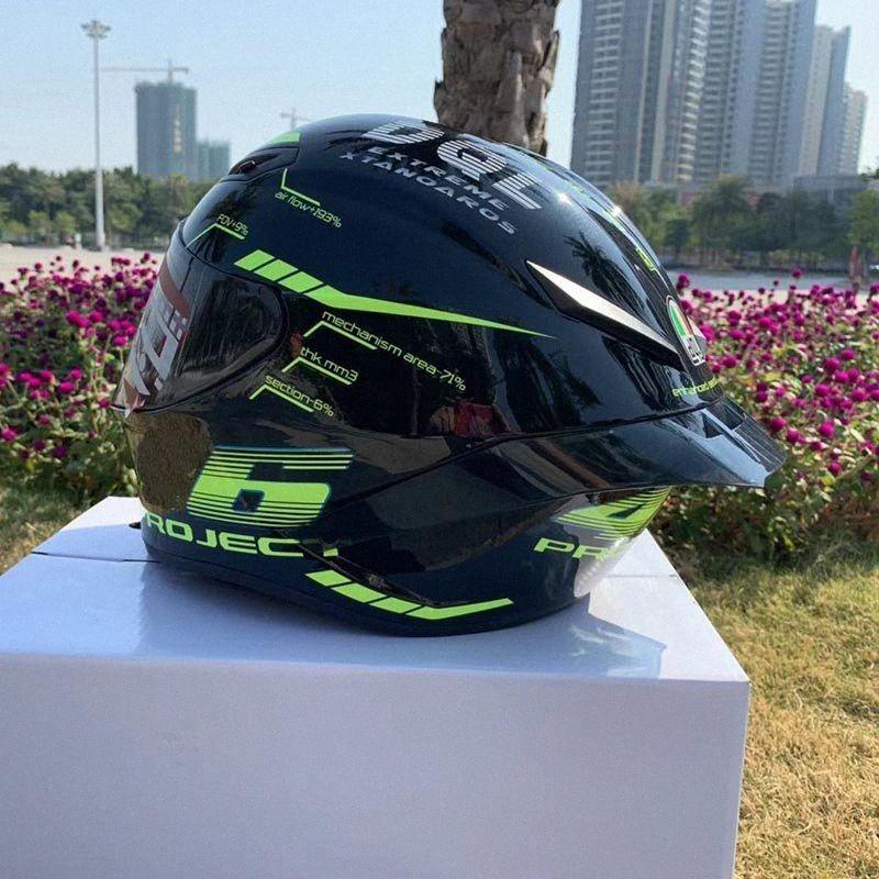 Capacete de Segurança capacete única Visor Homens Mulheres Scooter Moto completa Riding Mountain Com Preto Big Ala Motorcycle Juventude Motorcycl 9HKT #