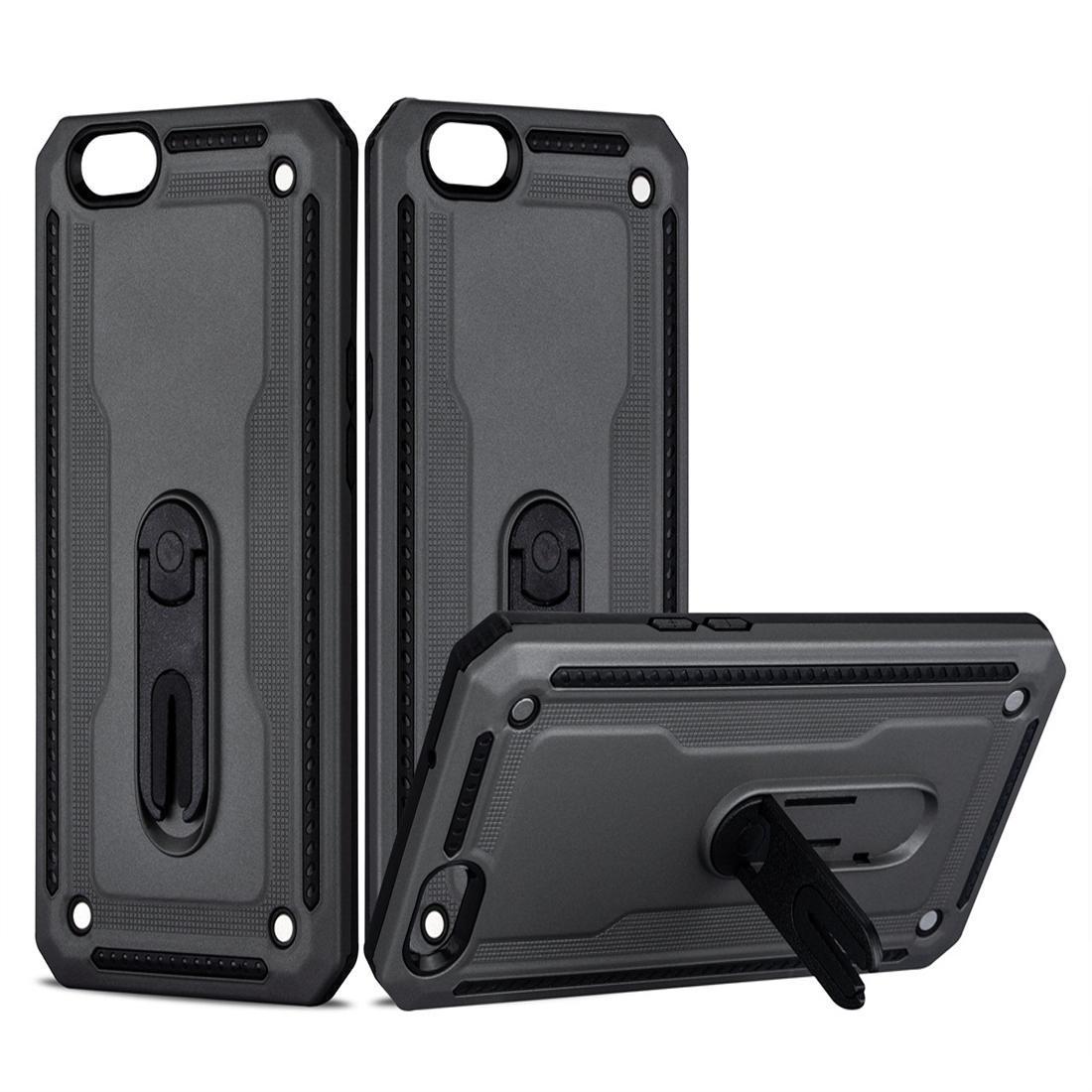 Für OPPO A59 / F1S Stoß- PC + TPU-Schutzhülle mit 360 Grad drehbaren Halter
