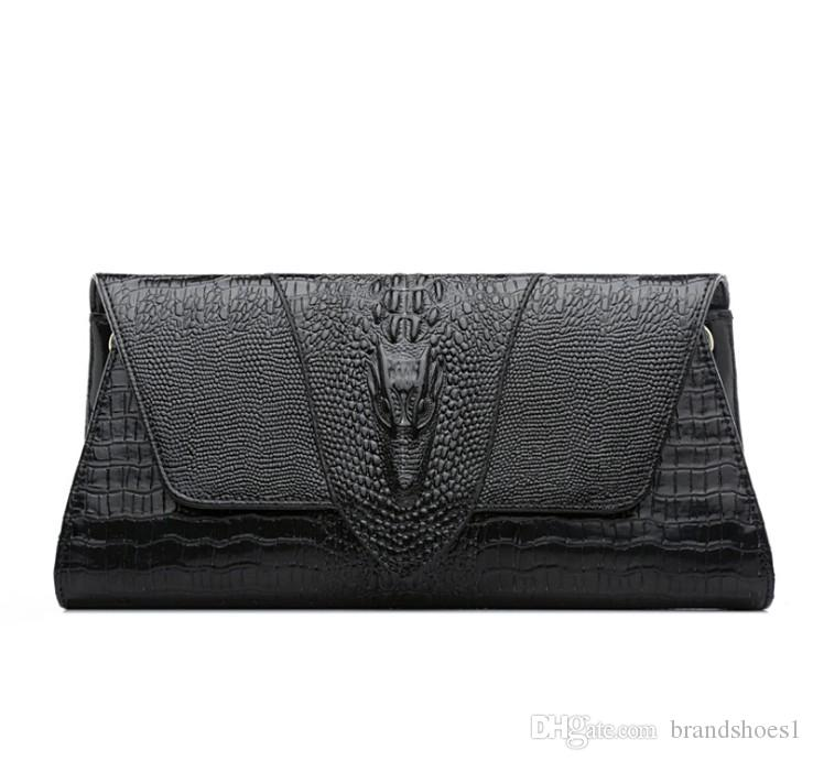 2020 Designer Frauen Mode-Tasche Krokoprägung helle Leder Kupplung Mode Handtaschen Schulter Messenger Taschen