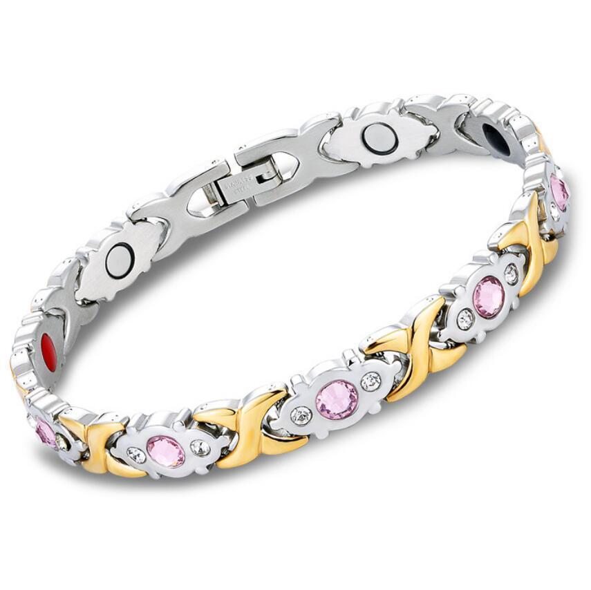 bracelets bijoux design pour les femmes aimant en acier de titane simples bracelets mode chaud gros sans expédition