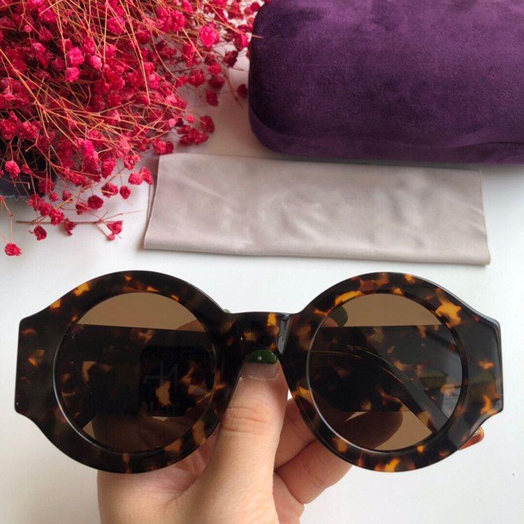 2020 NEWEST تصميم فريد GG0629S عارضة الأزياء النظارات الشمسية المستديرة للجنسين UV400 49-29-145 المستوردة ايطاليا-لوح سميك حالة كاملة مجموعة