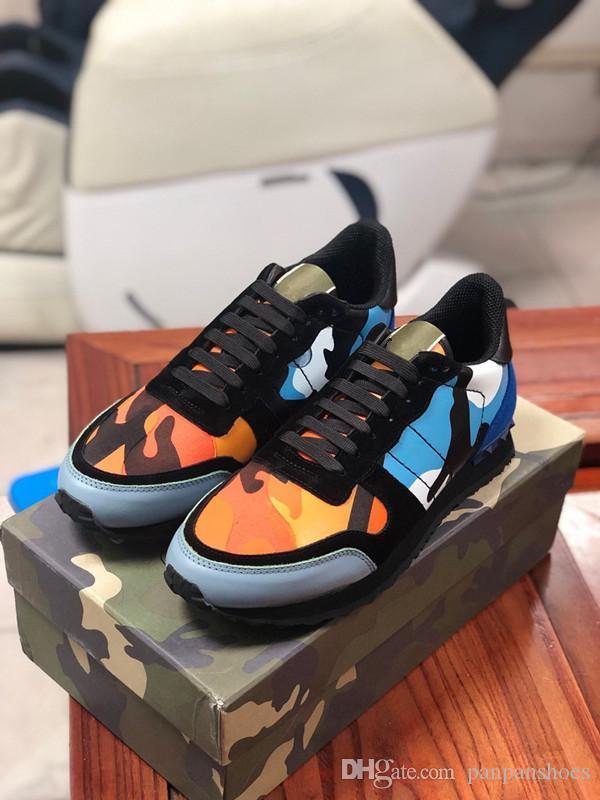 Cuero genuino zapatos de diseño zapatos abiertos modas de lujo para hombre de la zapatilla de deporte de las mujeres Huir de cuero de becerro Zapatos casuales de la moda entrenadores xg190727
