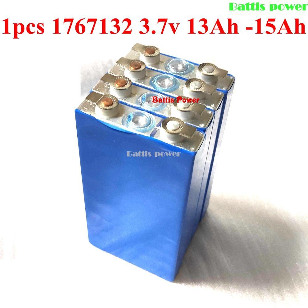 1pcs 1767132 3.7v 13Ah lithium 12ah 15Ah 10Ah polymer battery 50A aluminum case For diy power bank tool devices