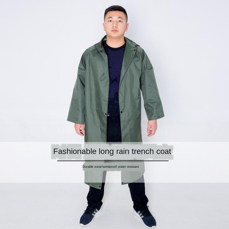 All-in-one polyester yarn fishing trench Windbreaker windbreaker coat style long raincoat security advertisement one-piece robe rain