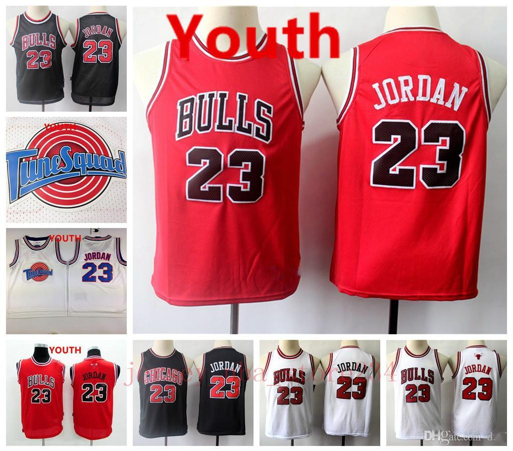 Kinder 23 Michael MJ Retro Schwarz Rot Weiß Authentisches Jugend Vancouver
