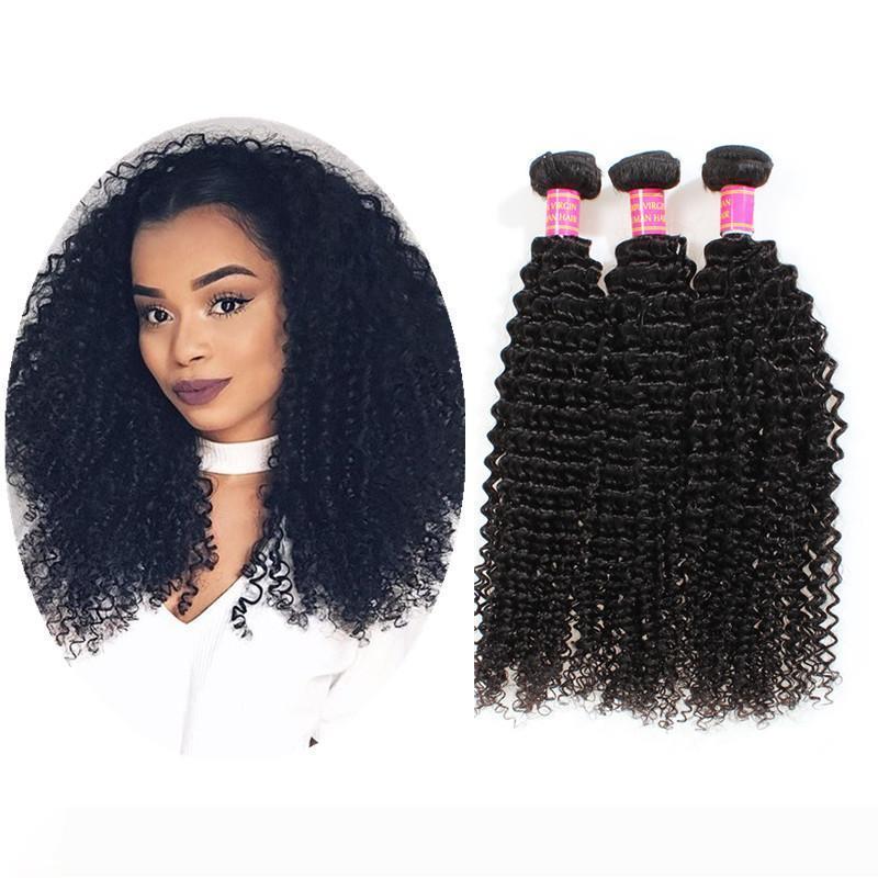 Yaopoly brasiliano riccio crespo dei capelli Bundles tessuto brasiliano dei capelli Bundle 3 pezzo 100% estensioni dei capelli umani