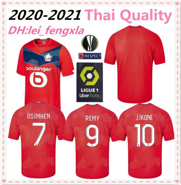 2020 Top Thailand LOSC Lille soccer jersey Lille Olympique Sporting Club football shirt 2021 PEPE REMY BAMBA R. LEAO IKONE maillot de foot