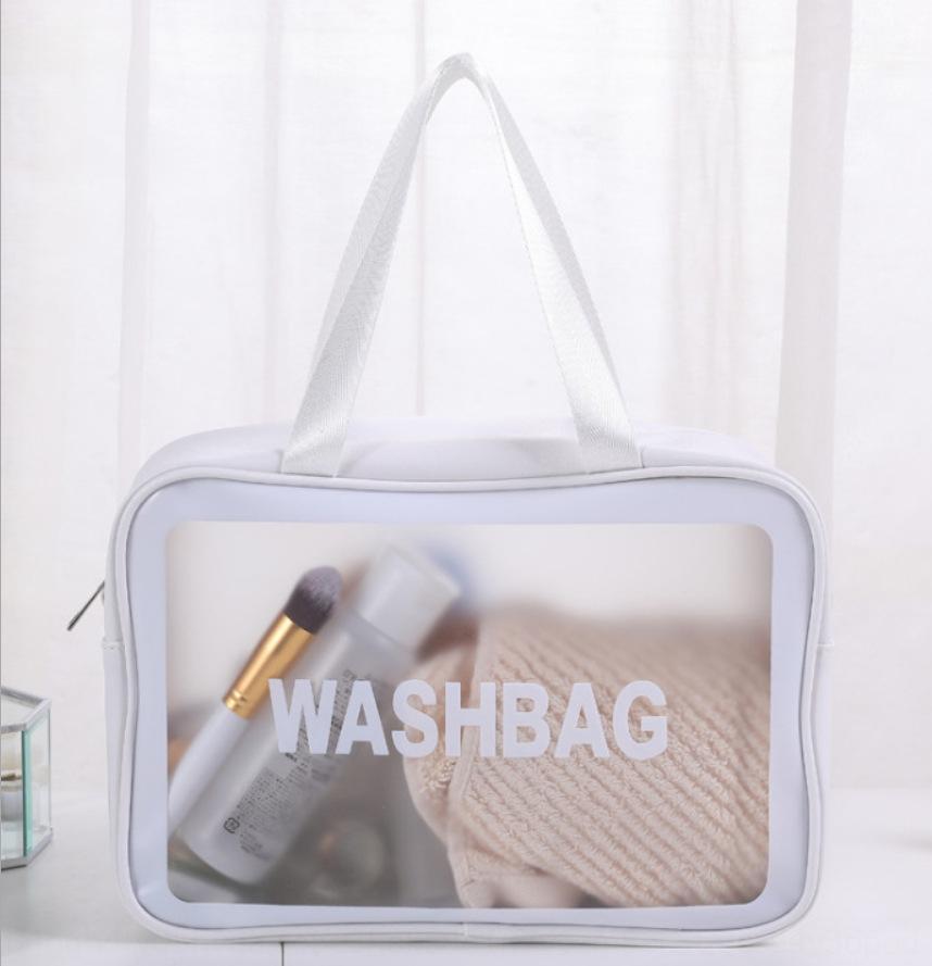 2020 impermeável PU couro pvc Armazenamento Cosmetic Coréia grandes bolsa de maquiagem cosméticos saco de material das mulheres de viagem capacidade de armazenamento de lavar