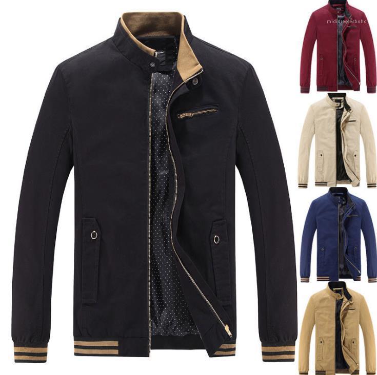 Sleeve Casual Mens Windbreaker Masculino Jaquetas gola Inverno Outdoor Mens Designer Jacket Plus Size Longo