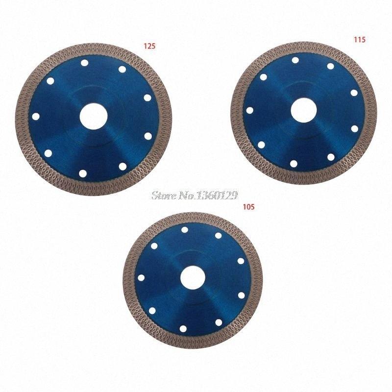 Súper fino diamante de cerámica sierra de disco circular de la hoja 105/115 mm / 125 mm Hoja de porcelana caliente sinterizado de corte para Cut Dropship QMHP #