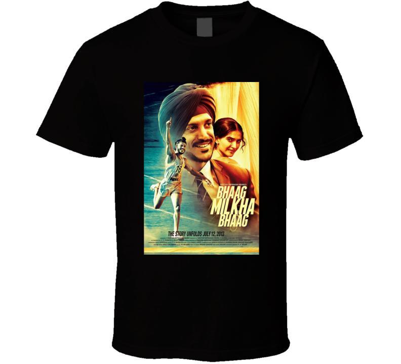 Hombres camiseta Bhaag Milkha Bhaag película T camiseta de la camisa de las mujeres camiseta