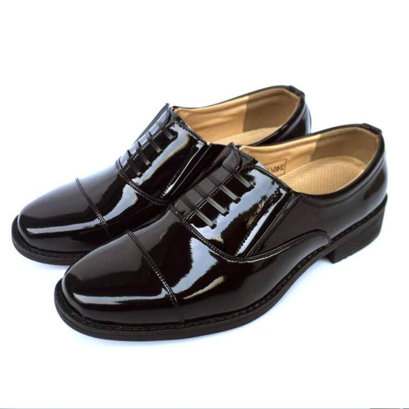 Men Official Army Shoes Patent Leather
