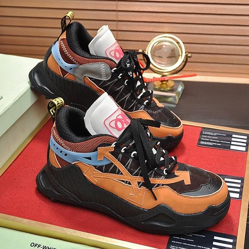 Новое прибытие Мужская обувь дышащая Открытый Walking Мода Footwears Scarpe Da Uomo вскользь Lace -До Плюс Размер Мужская обувь Odsy -1000 кроссовки