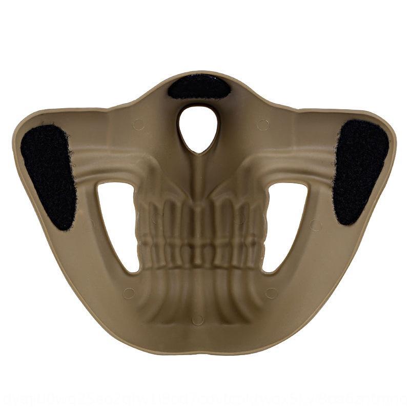 Halloween CS chieffans tactique masque d'horreur en plein air Protection équitation demi-visage protection squelette masque perméable à l'air