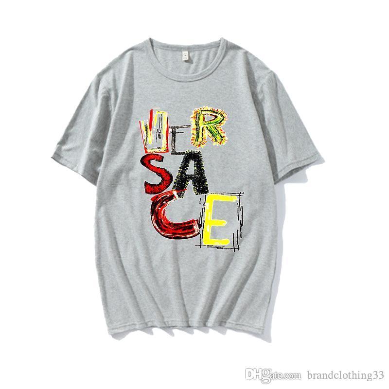 20ss rosso giallo blu verde bianco grigio uomo di colore donne casuali vestiti t-shirt maniche corte cappotto di modo tee outwear tee tops qualità