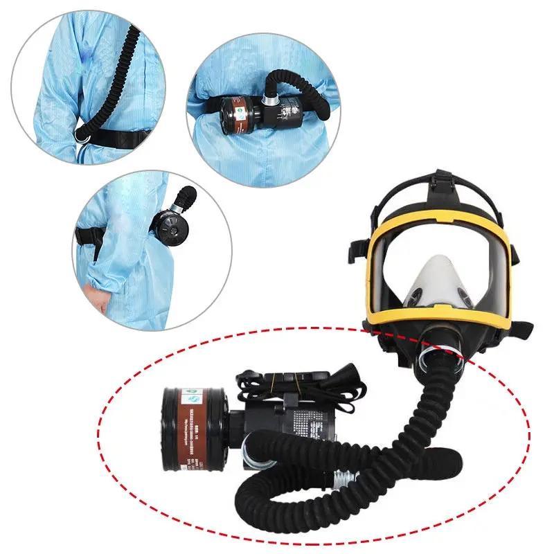 الموردة تدفق مضخة كهربائية الاحتياطي الفيدرالي الهواء مجموعة مضخة الهواء + علبة تصفية + شاحن لقناع الوجه الكامل