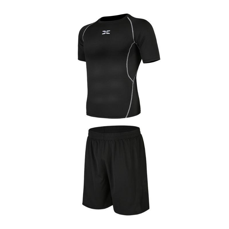 Мужчины Бег Обучение костюм Мужская одежда Gym Спортивный костюм Мужчины Беговая Установить тренировки Одежда для