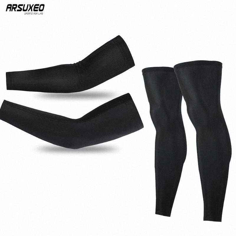 ARSUXEO Arm Warmers Ice Sleeves Breathable Running Arm Leg Sleeves Fitness UV Protection Basketball Sport Cycling Outdoor XT05M eY3t#