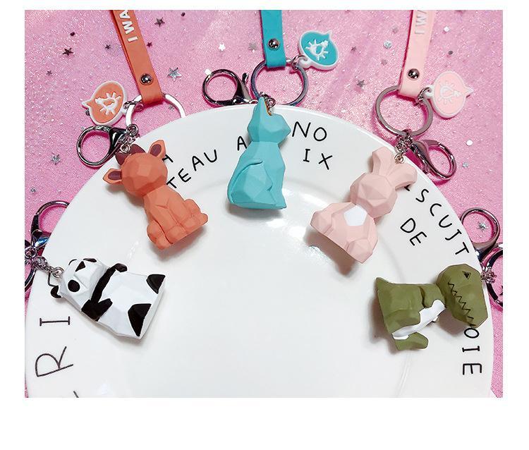 2020 Designer Keychains sveglio del dinosauro catena anello chiave di Keychain del gatto chiave del fumetto di modo creativo del sacchetto dell'automobile Portachiavi Phone