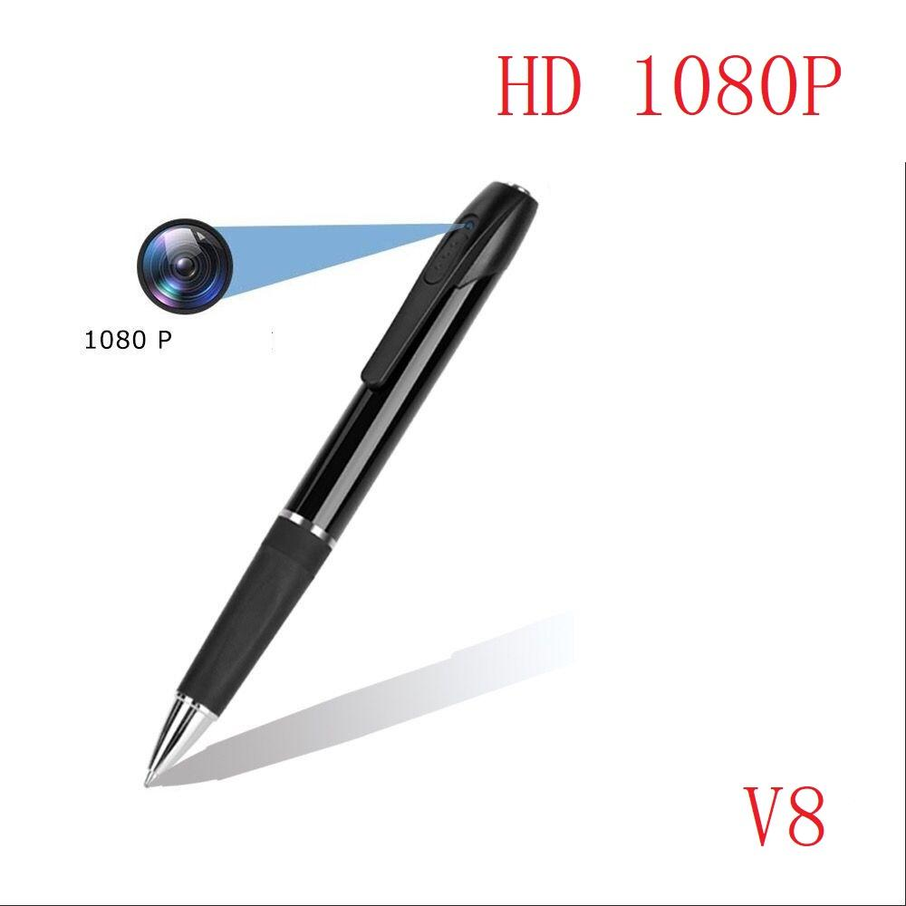 8GB 16GB 32GB HD Mini Camera recording pen V8 Portable mini pen Digital Voice Video Recorder with retail box