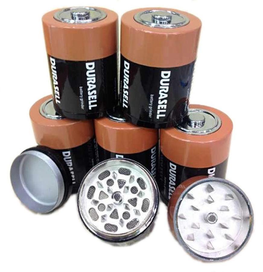 Grinders batterie tabac métal 44mm Diamètre Grinder de haute qualité Cigarette Herb Spice Crusher VS Sharpstone