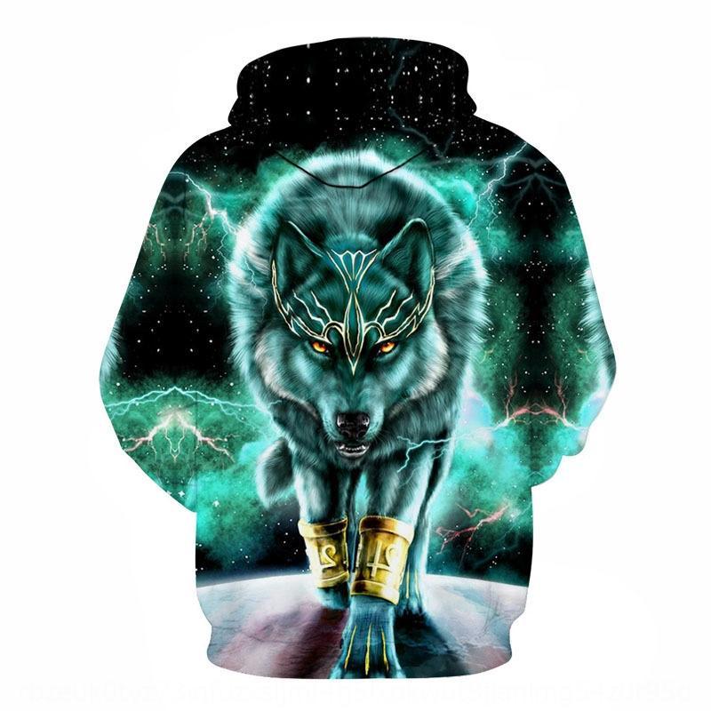 Jenry 2019 New Green Lobo jersey jersey jersey impreso moda cosplay 3D animado periférica
