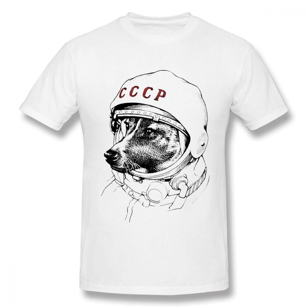 Camisa de CCCP T Laika T Espacio de viajeros camisa masculina Calidad URSS Unión Soviética KGB camiseta