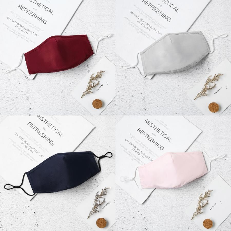 Designer Printed Gesichtsmaske Waschbar Luxus Anti Staub Gesichts Er Staubdichtes Reiten Sport Anti-L Wiederverwendbare Mouth Ice Silk M # 566 # 571