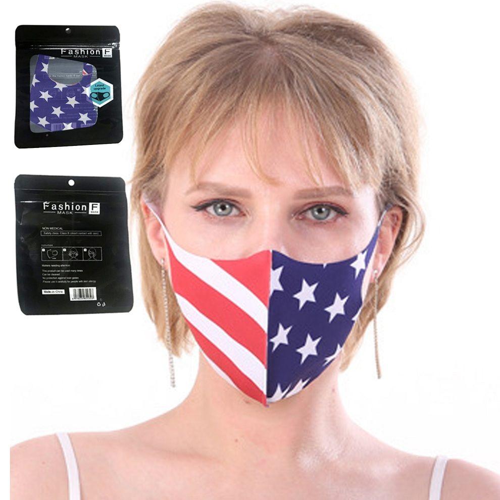 Amerikan Ulusal Bayrak Yüz Patriot Koruyucu Ağız Kapak Yetişkin İngilizce Paketi Kadınlar Erkekler Yıkanabilir Tekrar Kullanılabilir Solunum Maskesi Maske