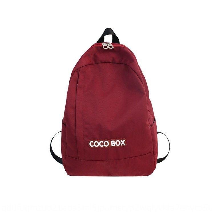 T7Ifm мешок школы рюкзака backpackbag женского корейский stylestudent рюкзак High School древнего чувство простого большая емкость сплошного цвет Doub