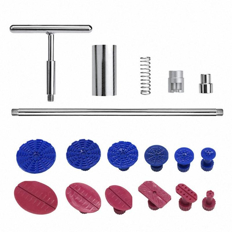 Auto Body Repair Ferramenta Martelo deslizante T-Extrator Bar Car Dent removedor Repair Tool Glue Tabs Ventosas Car Dent Puller LmZn #