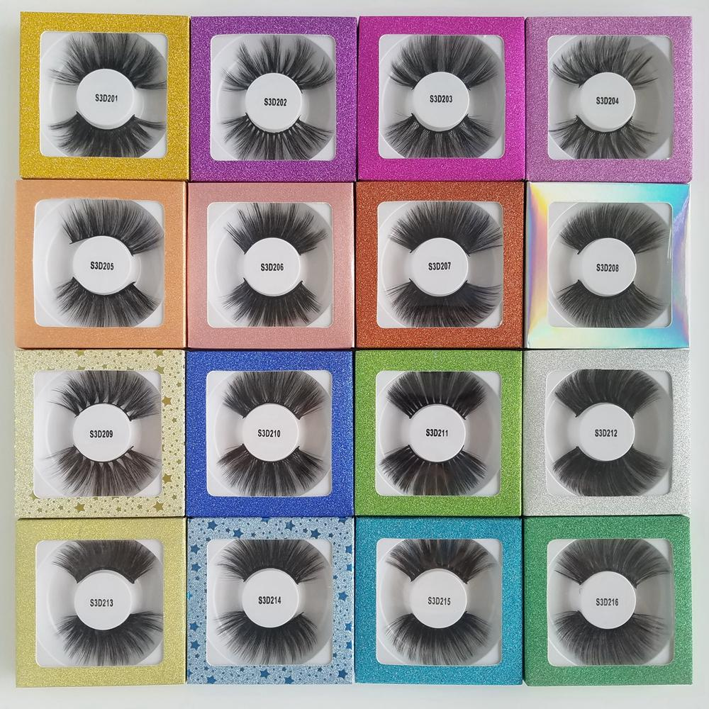 Free Shipping 3D 25mm Faux Mink Eyelashes Strip Lashes Private Label Acceptable Cruelty Free Dramatic 25mm Eyelashes Vendor