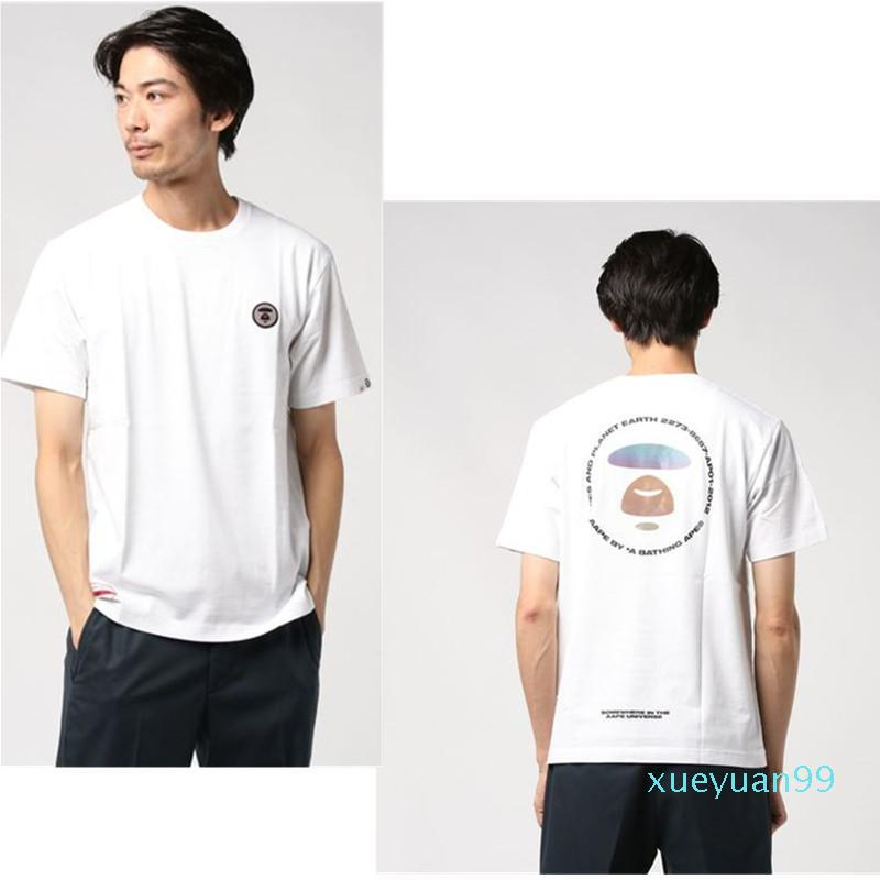2020 Mens APES T-shirt sweatershirt Bathing Ape Uomini Donne Abbigliamento Sportivo Casual Wear Bianco scimmie T-shirt