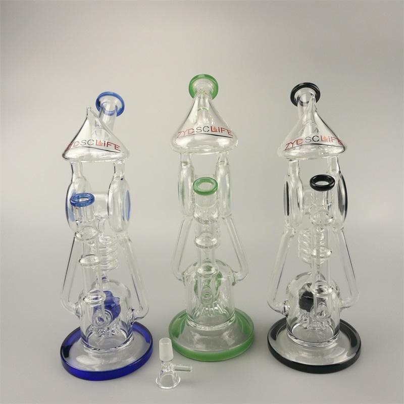 Plus récent Inline Bend Tube de verre de style de conception et de champignon Precolator 12.2Inches bulle Prec de plate-forme dap pour chicha chicha