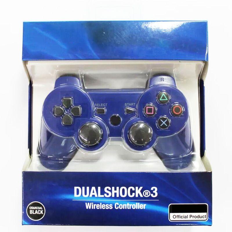 جديد وصول 3 وحدة تحكم لاسلكية بلوتوث للتحكم PS3 الاهتزاز المقود غمبد لعبة مع صندوق البيع بالتجزئة