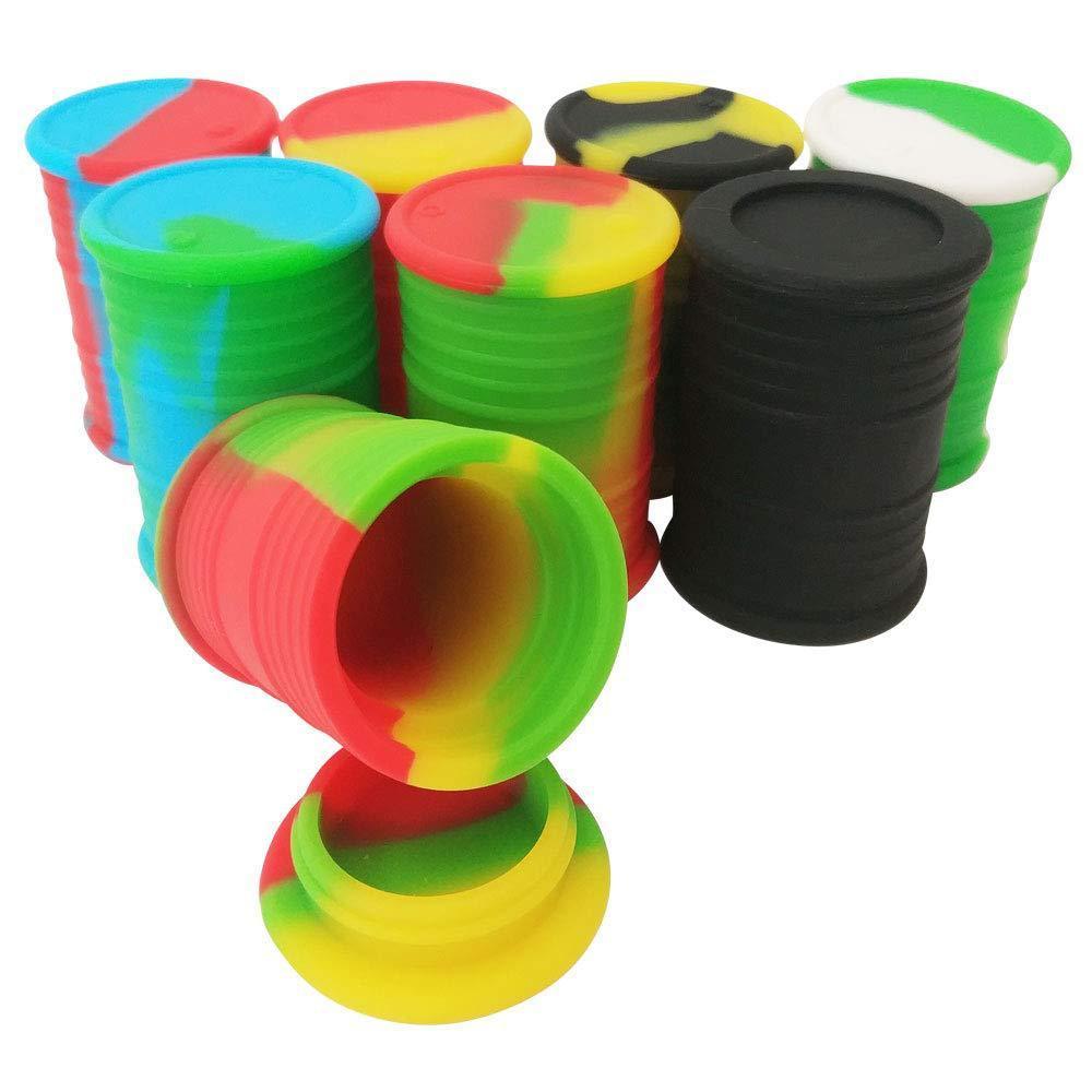 silicona barril de petróleo frascos contenedores DAB forma tambor de caucho cera vaporizador 11ml de silicio seco hierba dabber caja de almacenamiento de herramientas concentrado DHL