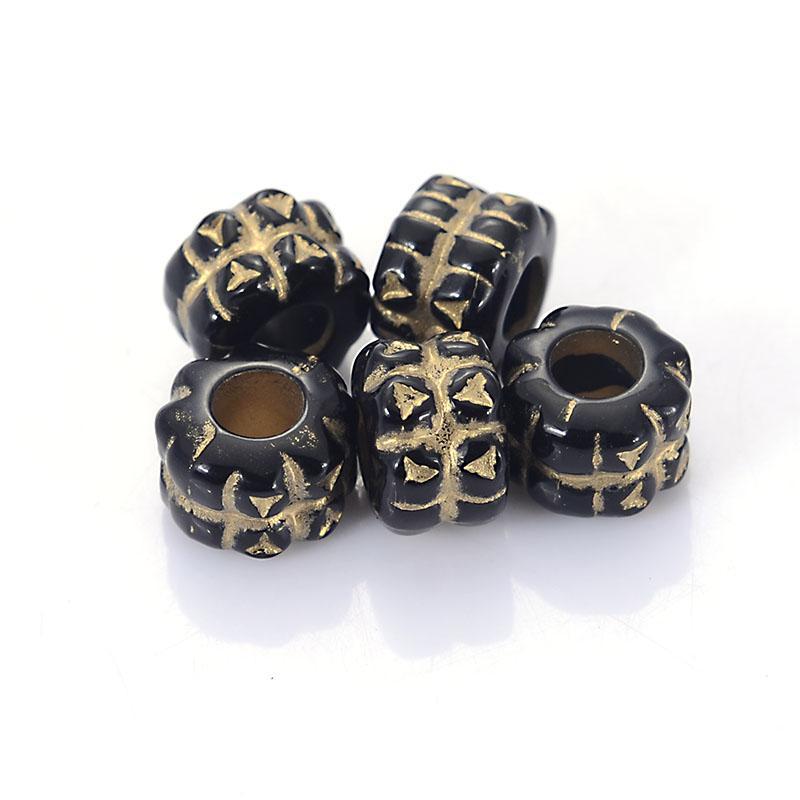 Новое прибытие 200 шт / Лот Рифленых гофрированного Покрытие Акриловых Античный Design Spacer Charm Beads для Diy ювелирных изделий Изготовления аксессуаров