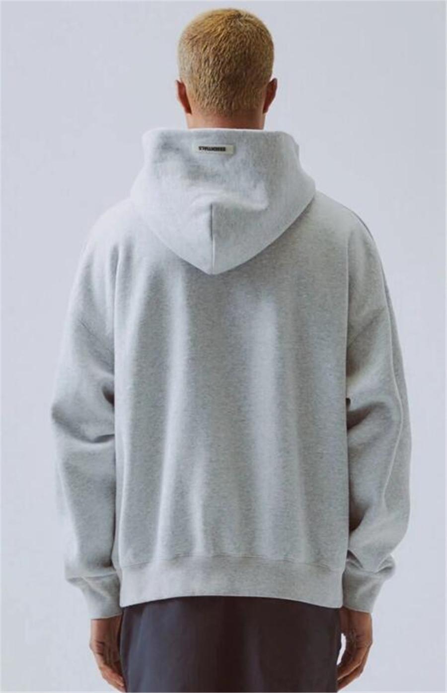 Crewneck of Teme Dios niebla Essentials Funda reflectante FYMWY265 # 207 T Pullover Sudadera 19FW Larga Casual Street Oodie Solid Shirts Swe Xkbe