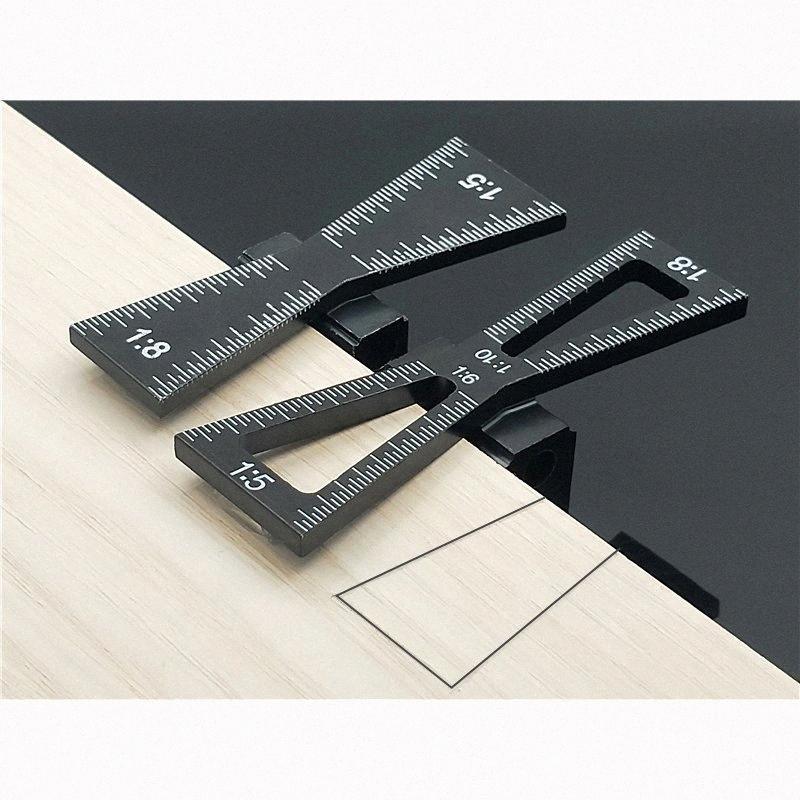 1: 5 1: 8 الرباط ماركر تخرج وسم قياس قالب قياس النجارة أداة المشتركة مقياس دليل الرباط أدوات قياس الخشب qO9v #