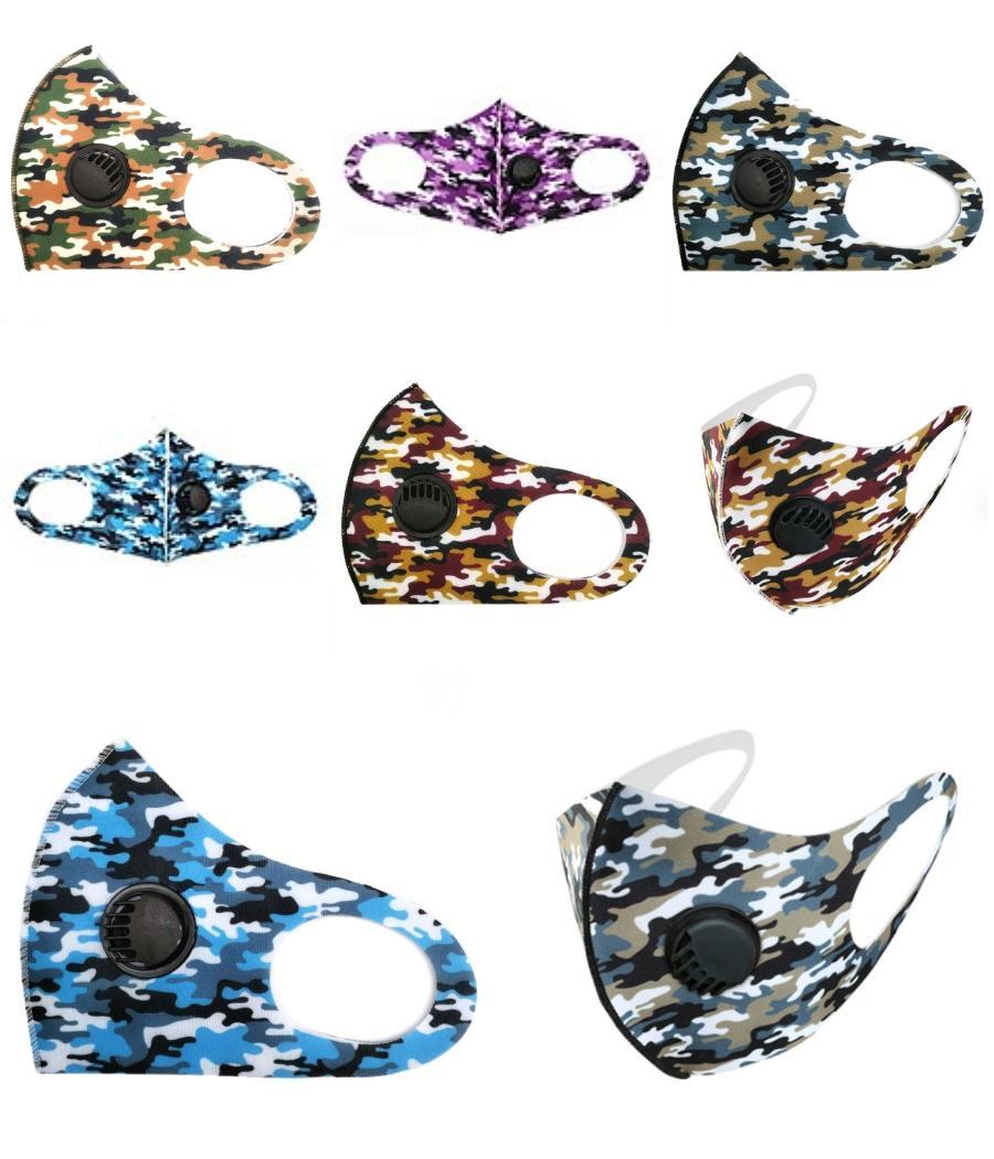 Camo Дизайнер маска Многоразовый Смешные Нос Маски Mascherine высокой моды Washable ткань Черный Красный Звездное небо маски для взрослых ABC2007 ZSLcp # 275