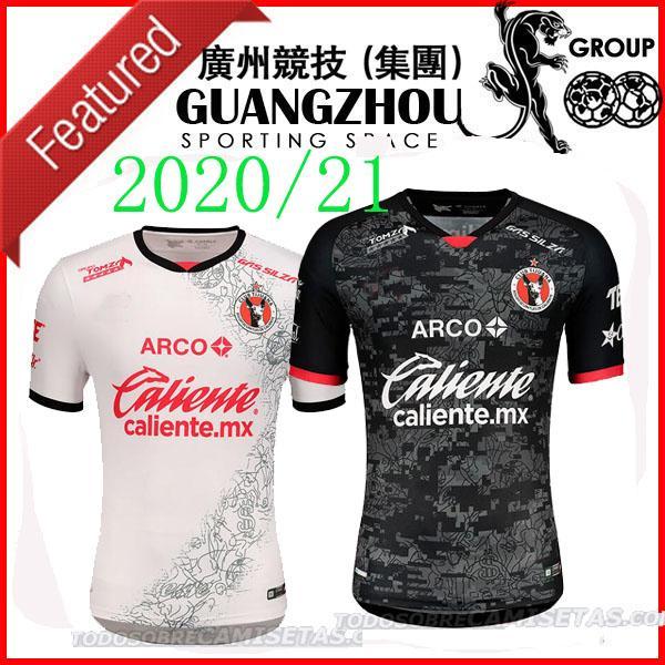 20 camisetas de fútbol 21 Xolos Club Tijuana hogar lejos 2021 2020 Sanvezzo Miler Camisetas camisa de México liga mx hombre niños de fútbol de Tailandia