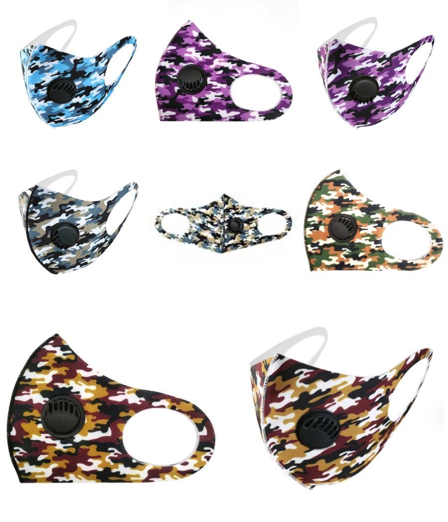 2020 Face Mask Designer Printed Gesicht Top-Qualität Mask 3 Schicht-Ear-Loop-Staub-Mund-Masken 3-Ply weiche atmungsaktive Schutzmaske Staubdichtes ## 990