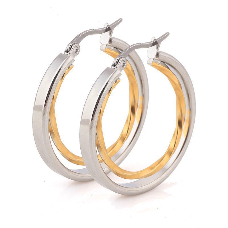 2020 bijoux de mariage boucles d'oreilles en or Nouvelle promotion Couleur Lady Boucles d'oreilles pour les femmes
