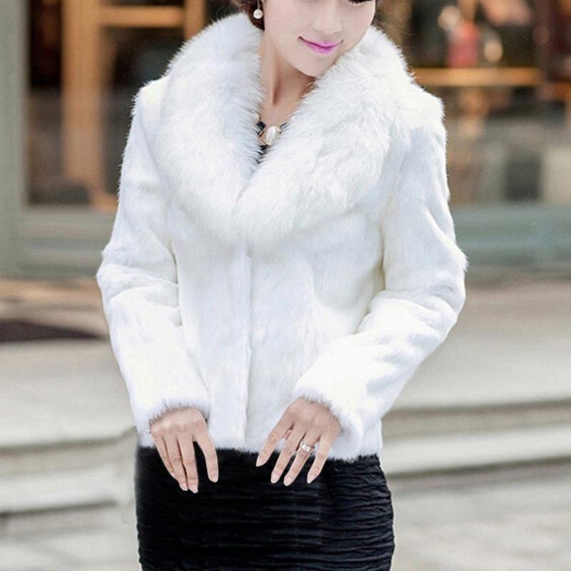 Donne Elegante Faux Fur Coats invernali 2020 delle signore delle donne senza maniche di colore solido di inverno Gilet Vest allentato cappotto Casaco Femini # g3
