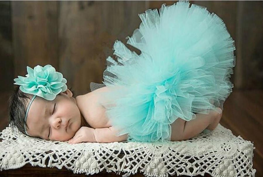 Newborn neonate abiti Fotografia Set Cute Flower fascia e del vestito dal tutu bambino Props 5 stili